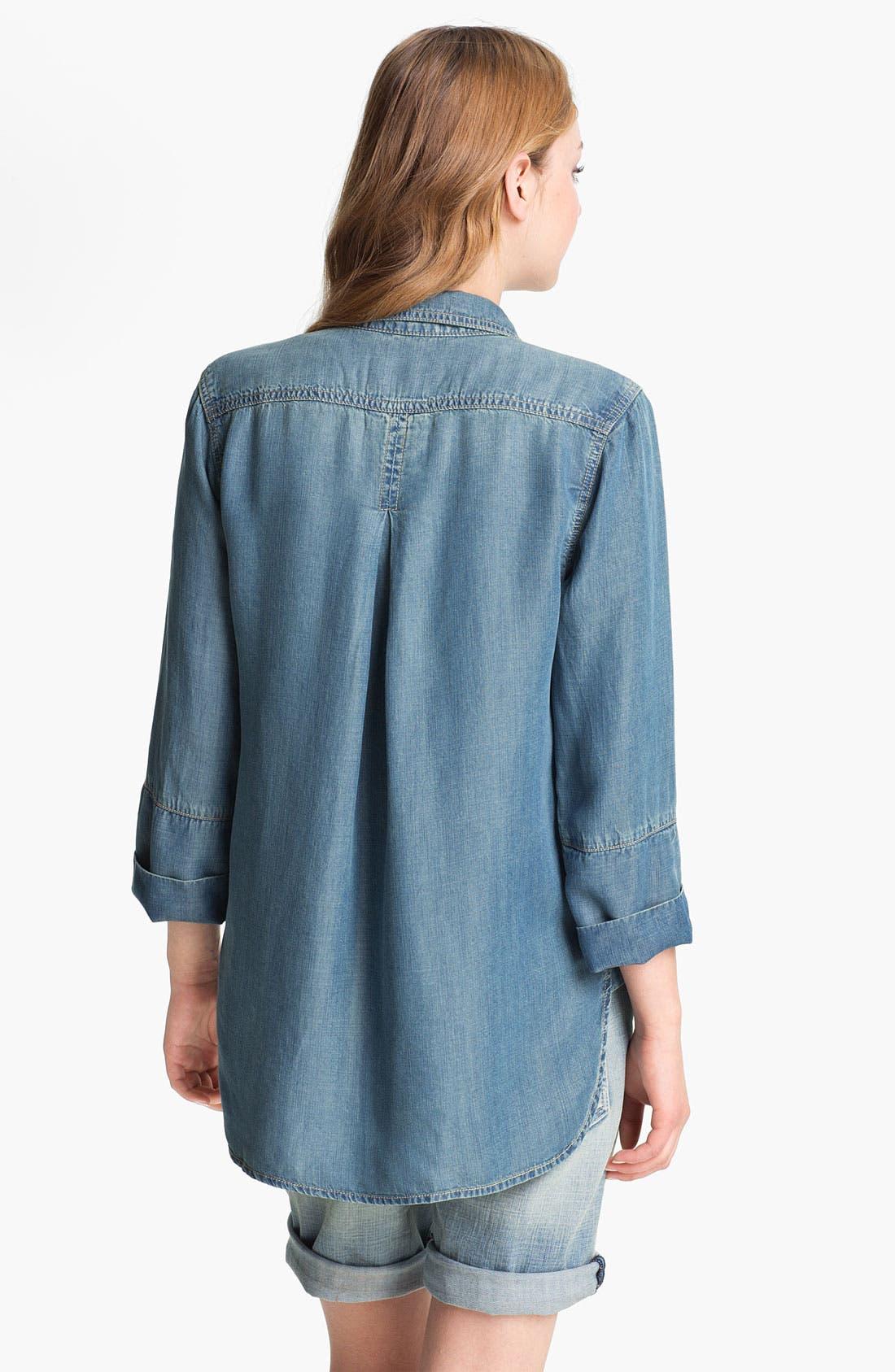 Alternate Image 2  - Side Stitch Chambray Shirt