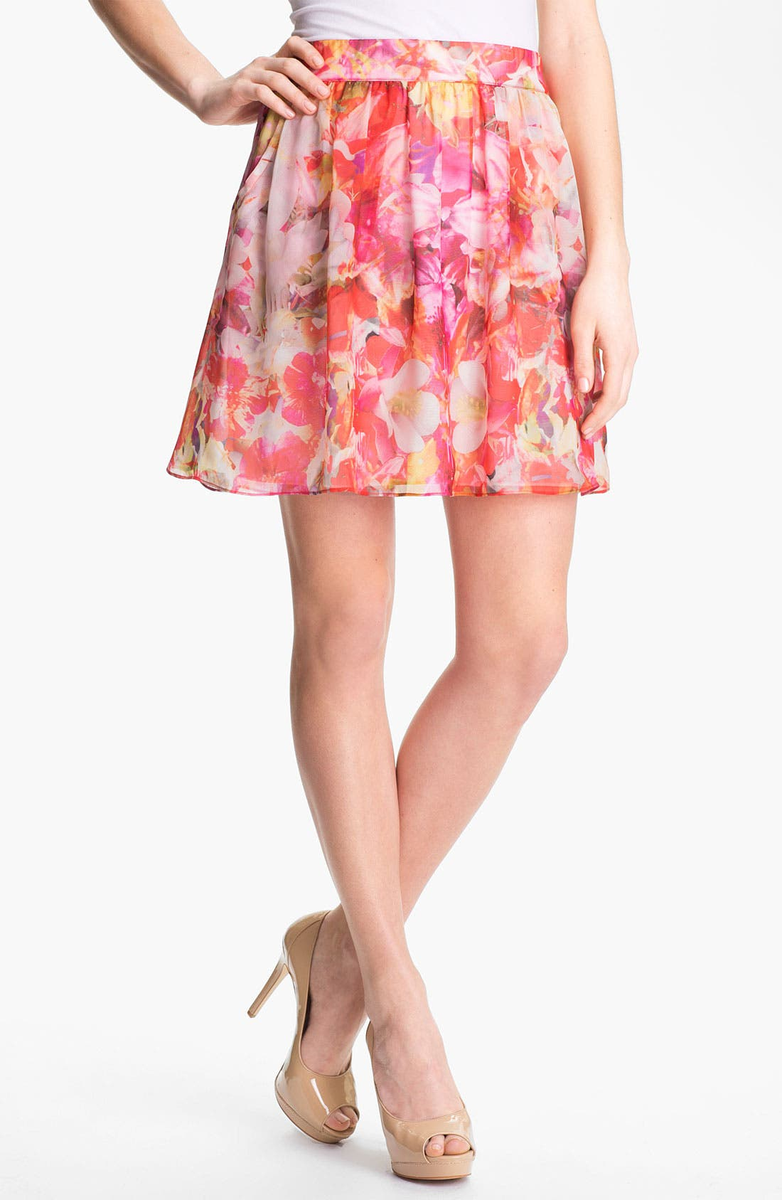 Alternate Image 1 Selected - Vince Camuto 'Corsage Floral' A-Line Skirt