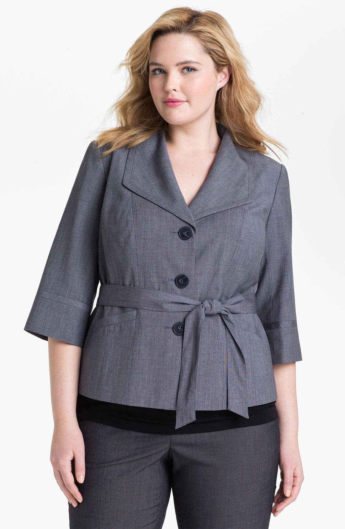 Alternate Image 1 Selected - Sejour 'Laurel' Twill Jacket (Plus Size)