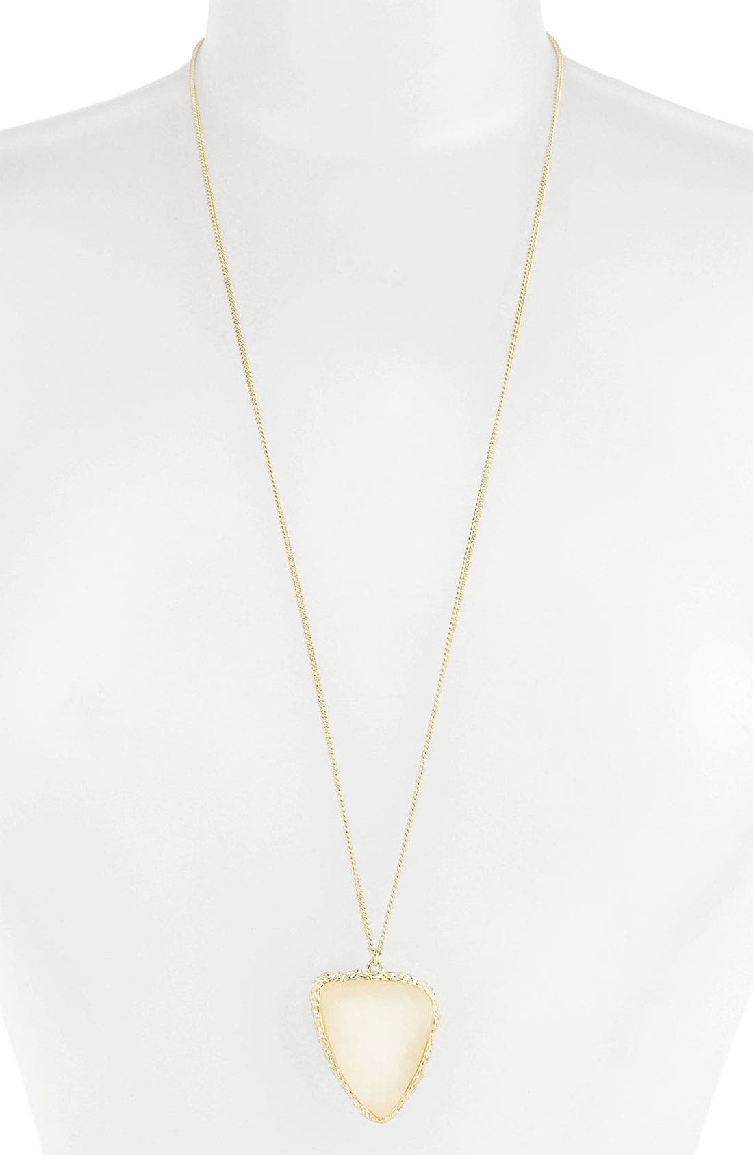 Main Image - Stephan & Co. Faux Drusy Pendant (Juniors)