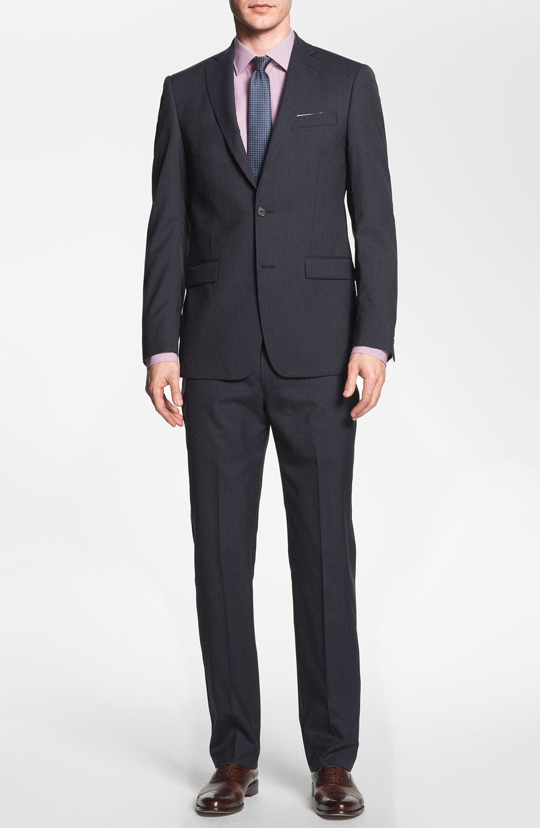Alternate Image 2  - Michael Kors Trim Fit Stripe Suit