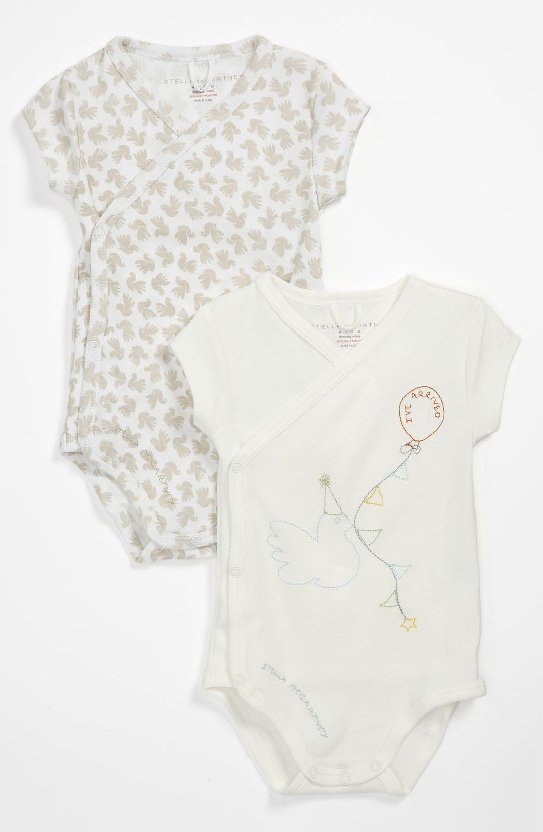 Alternate Image 1 Selected - Stella McCartney Kids 'Birdie Baby' Bodysuit Gift Set (Set of 2) (Baby)