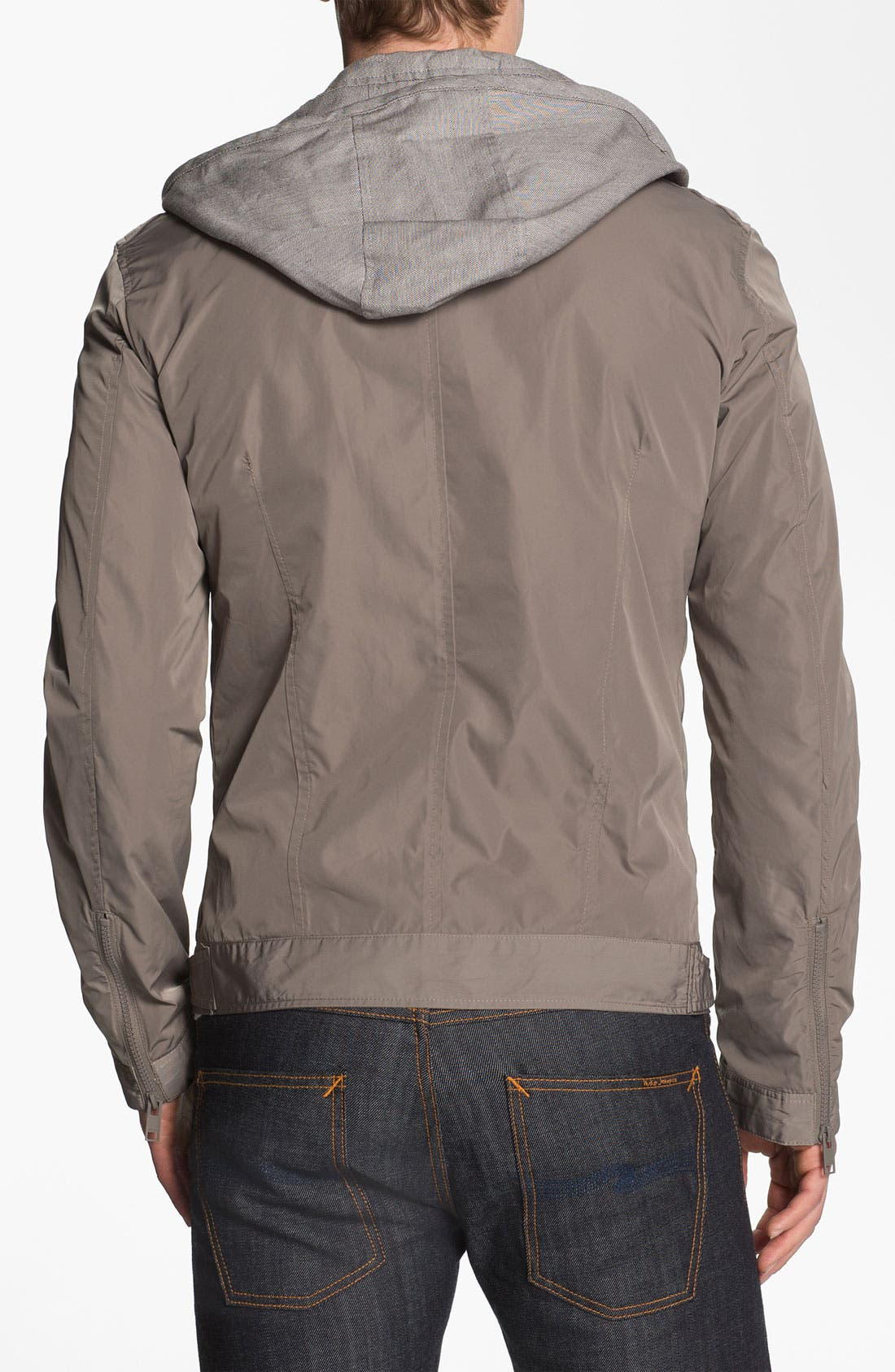 Alternate Image 2  - Antony Morato Moto Jacket with Removable Hooded Front Lining
