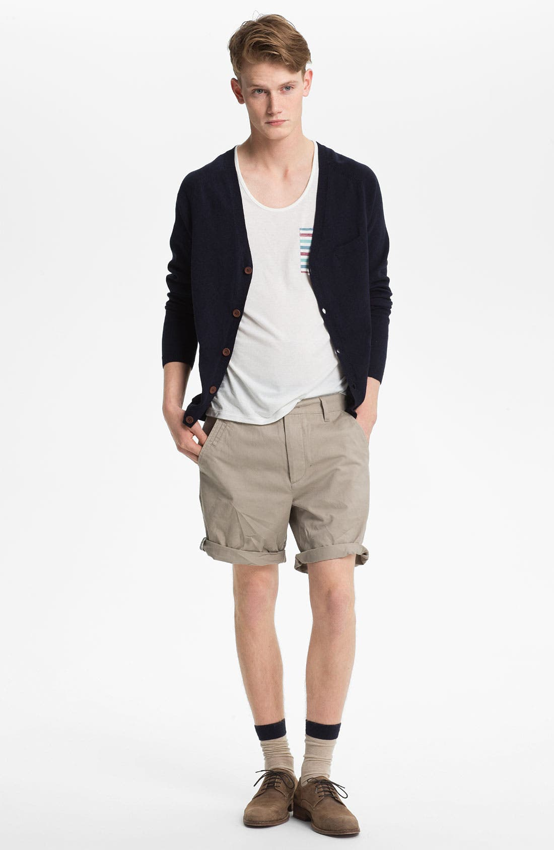 Main Image - Topman Cardigan, Tank Top & Shorts