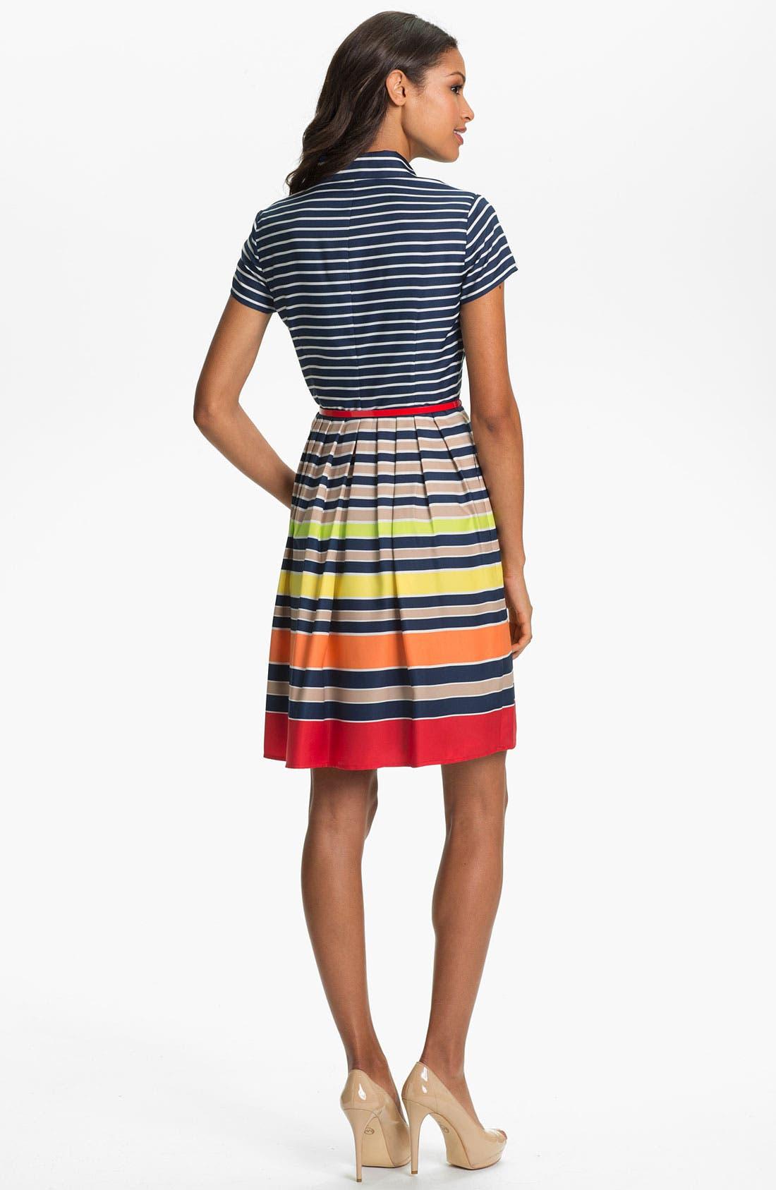 Alternate Image 2  - Ellen Tracy Stripe Twill Shirtdress