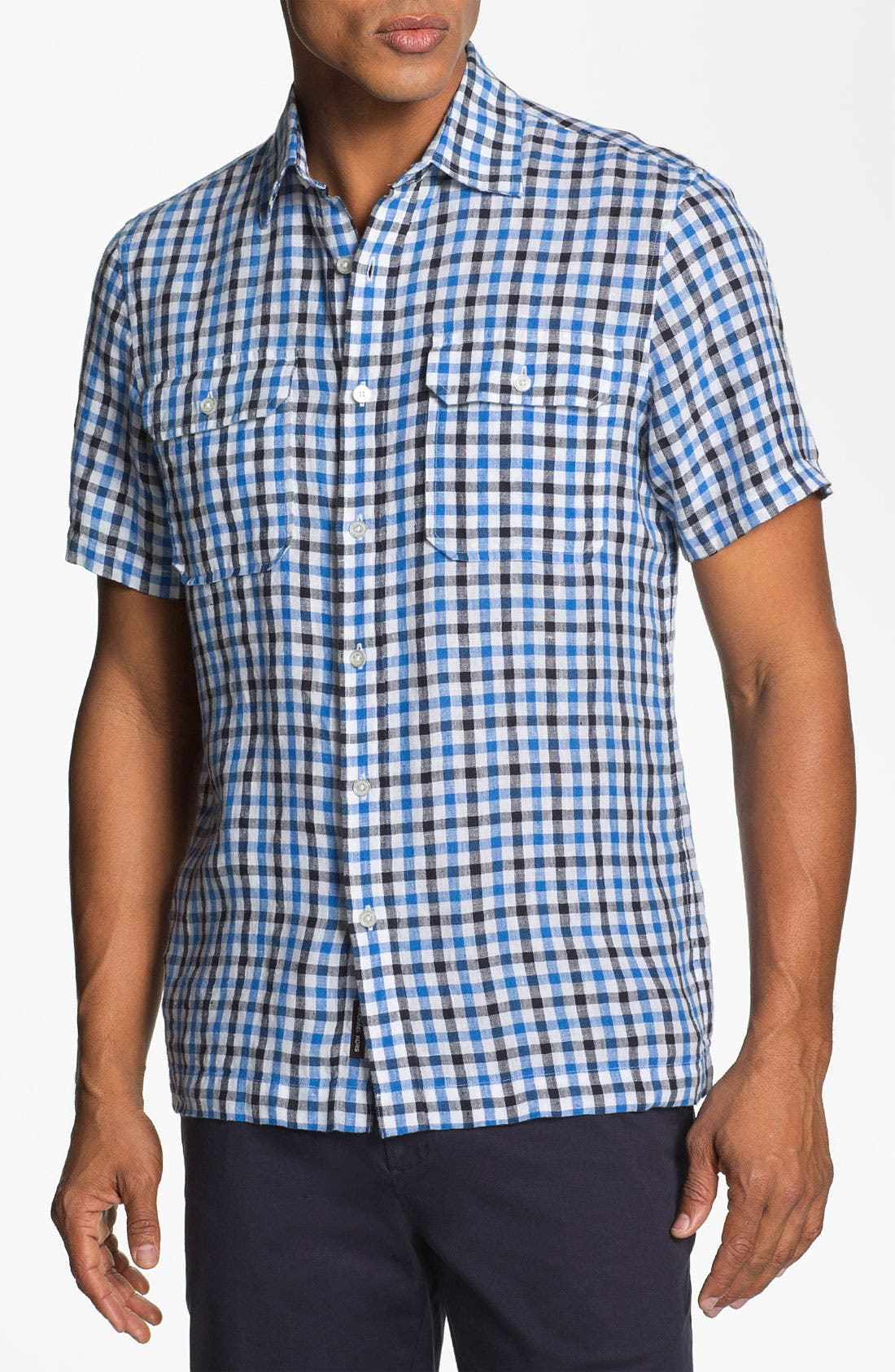 Main Image - Michael Kors 'Percy Check' Tailored Fit Sport Shirt