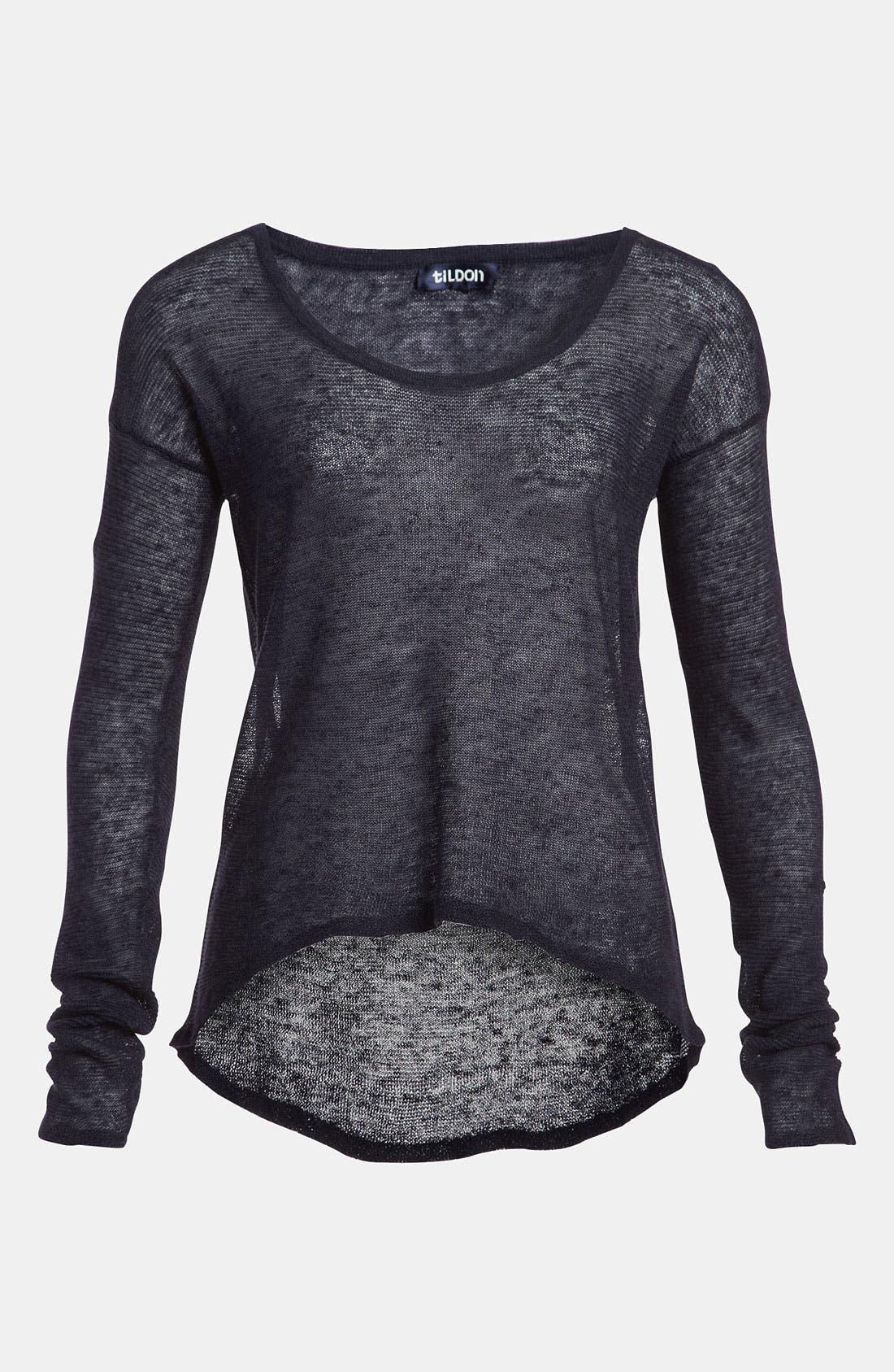 Alternate Image 1 Selected - Tildon Sheer High/Low Pullover