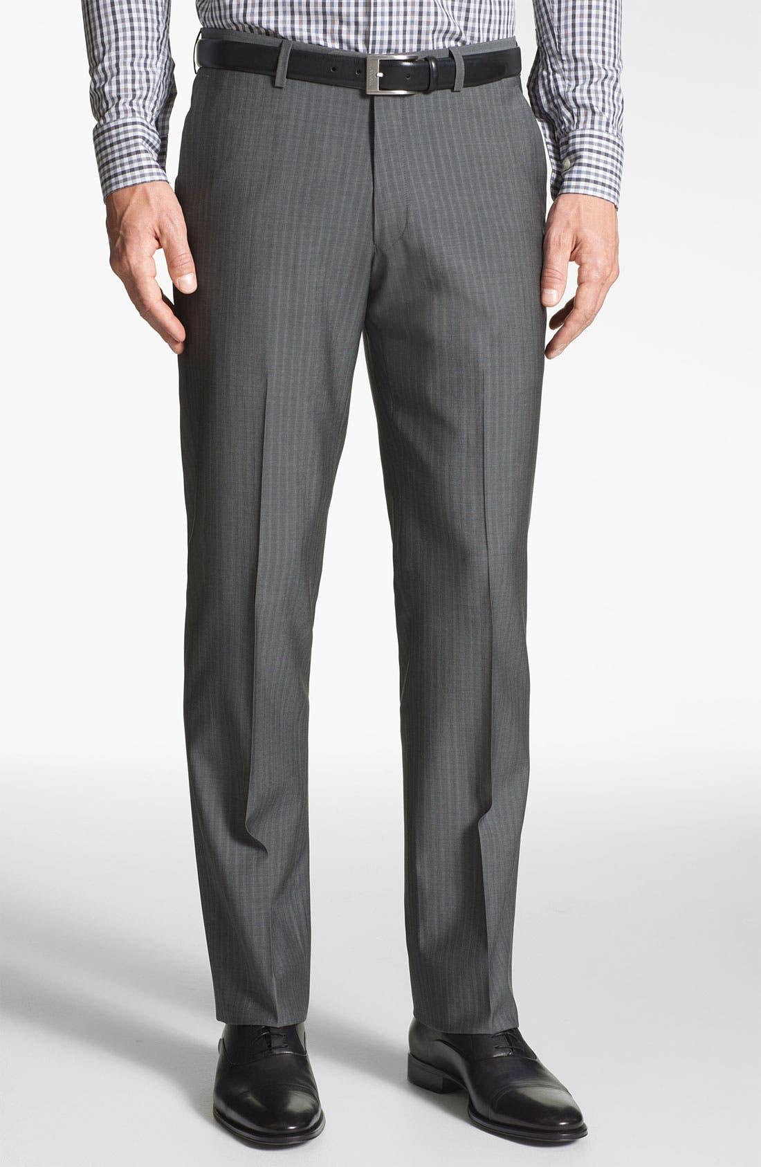 Alternate Image 4  - John Varvatos Star USA 'Filmore' Trim Fit Stripe Suit