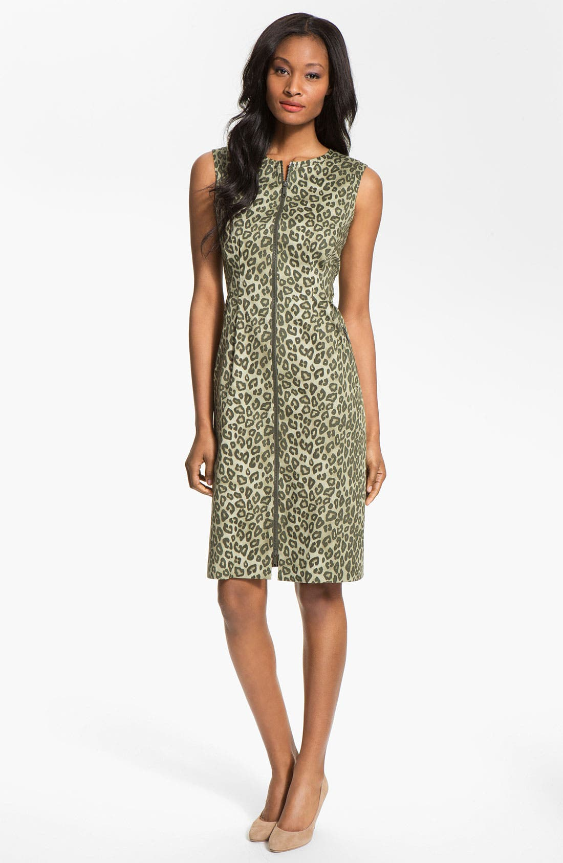 Alternate Image 1 Selected - Lafayette 148 New York 'Misti - Senegal Cheetah' Dress
