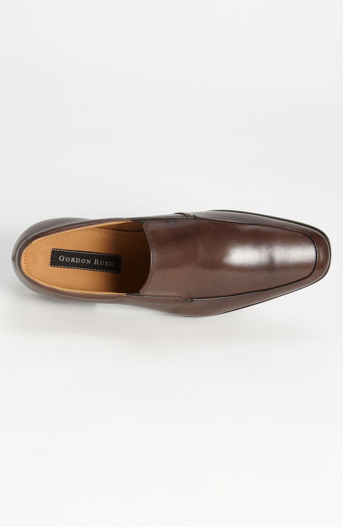'Elliot' Venetian Loafer,                             Alternate thumbnail 3, color,                             Brown Leather