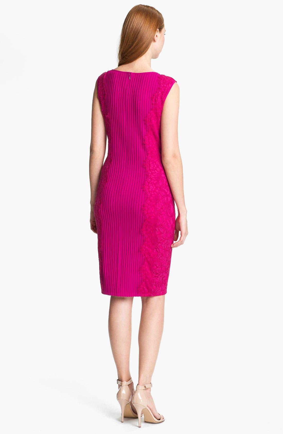 Alternate Image 2  - Tadashi Shoji Lace Blocked Sheath Dress