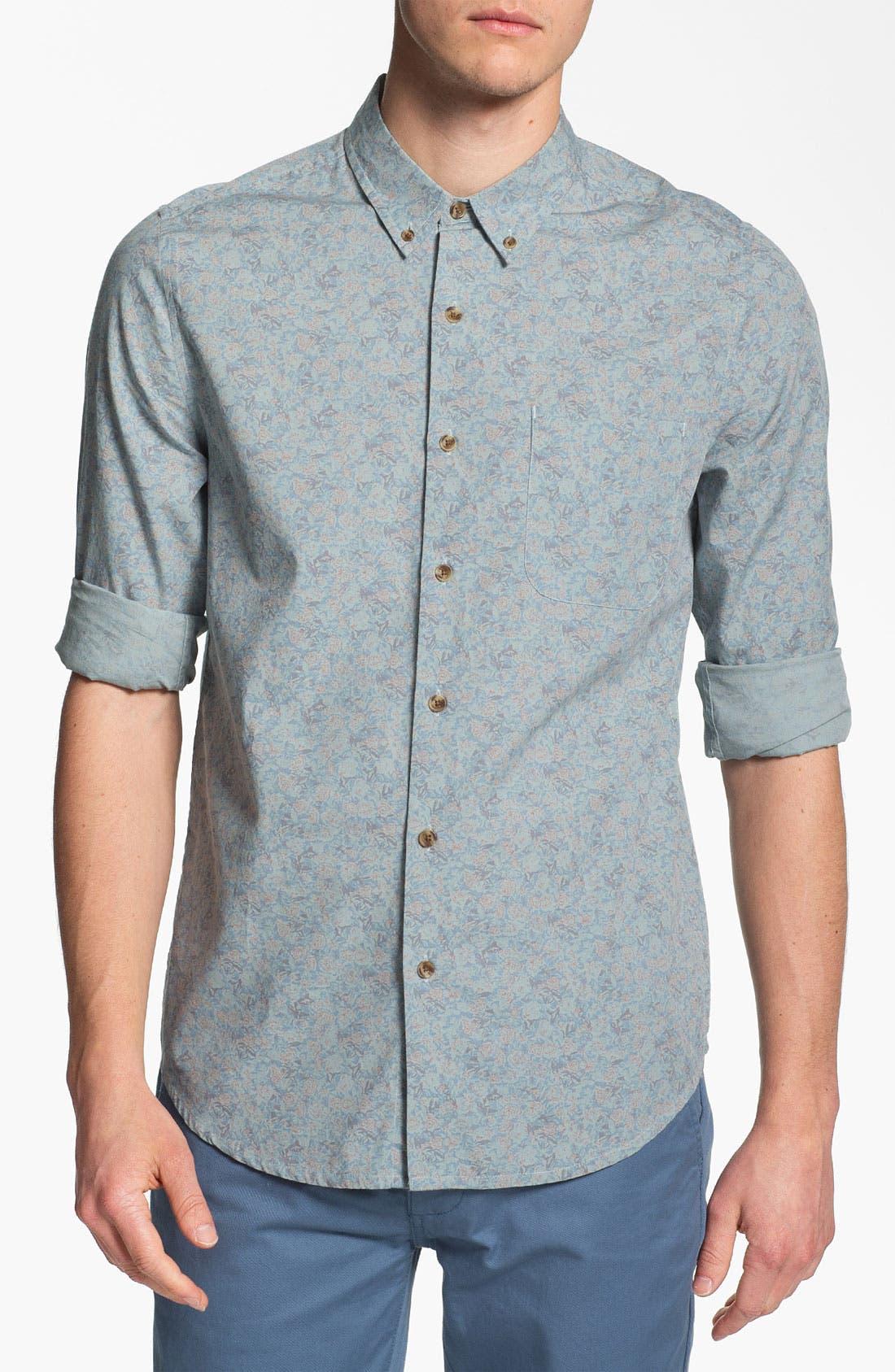 Main Image - Topman Floral Print Shirt