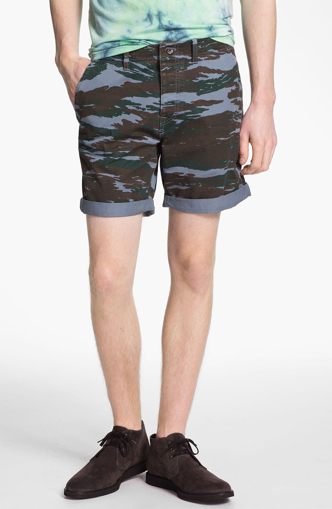 Alternate Image 1 Selected - Topman Camo Print Shorts