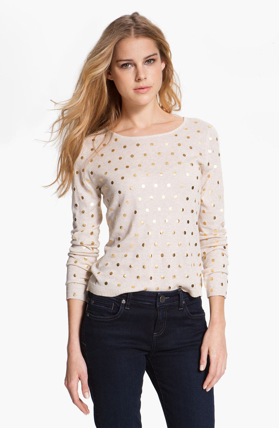 Alternate Image 1 Selected - Kensie Dot Print Sweater