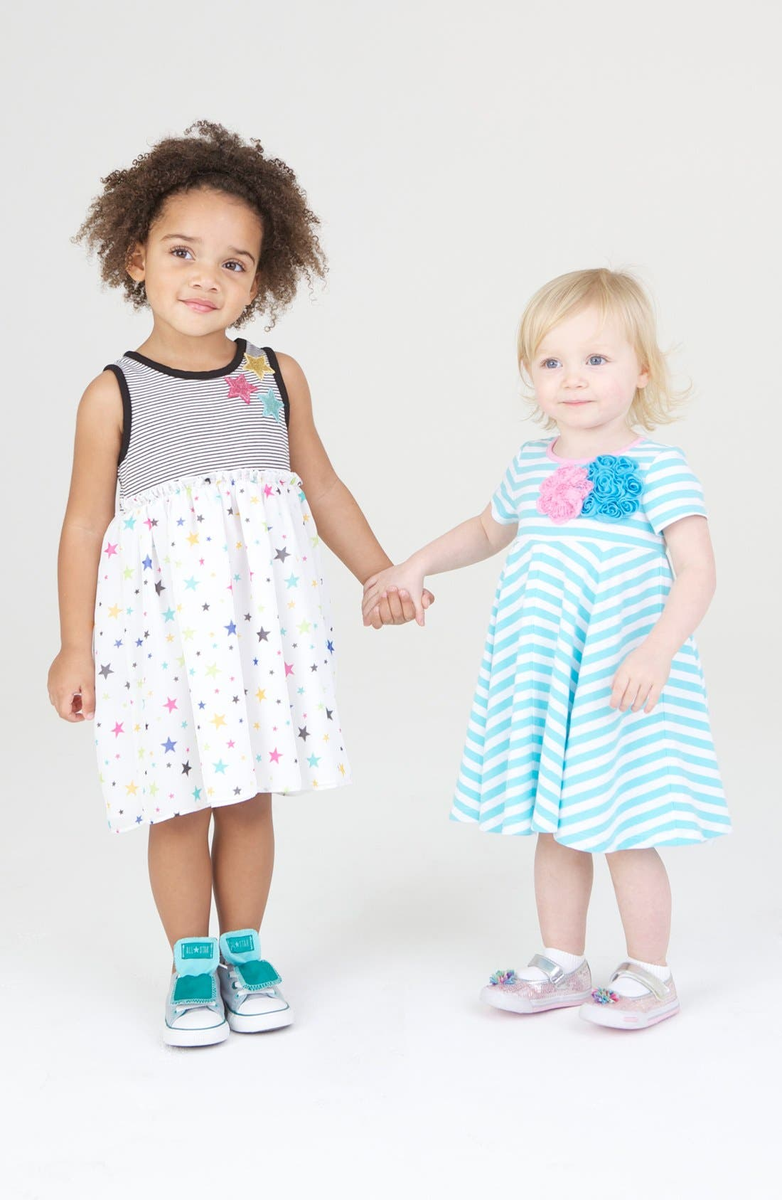 Alternate Image 2  - Pippa & Julie Stripe Dress (Toddler)