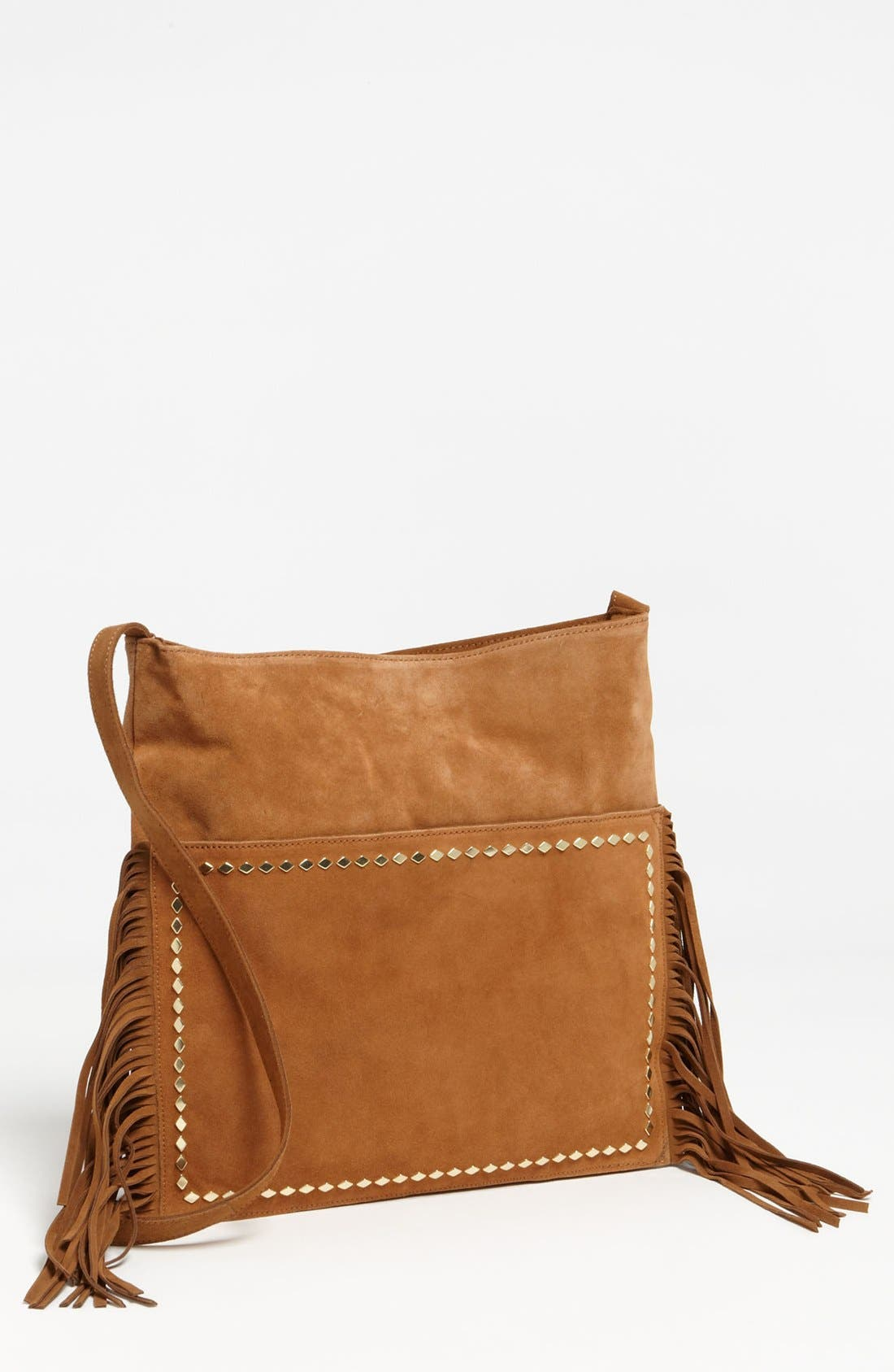 Main Image - Steve Madden Fringed Suede Crossbody Bag