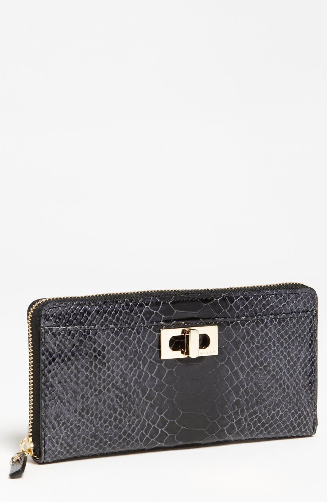 Alternate Image 1 Selected - Milly 'Claudia' Snake Embossed Wallet