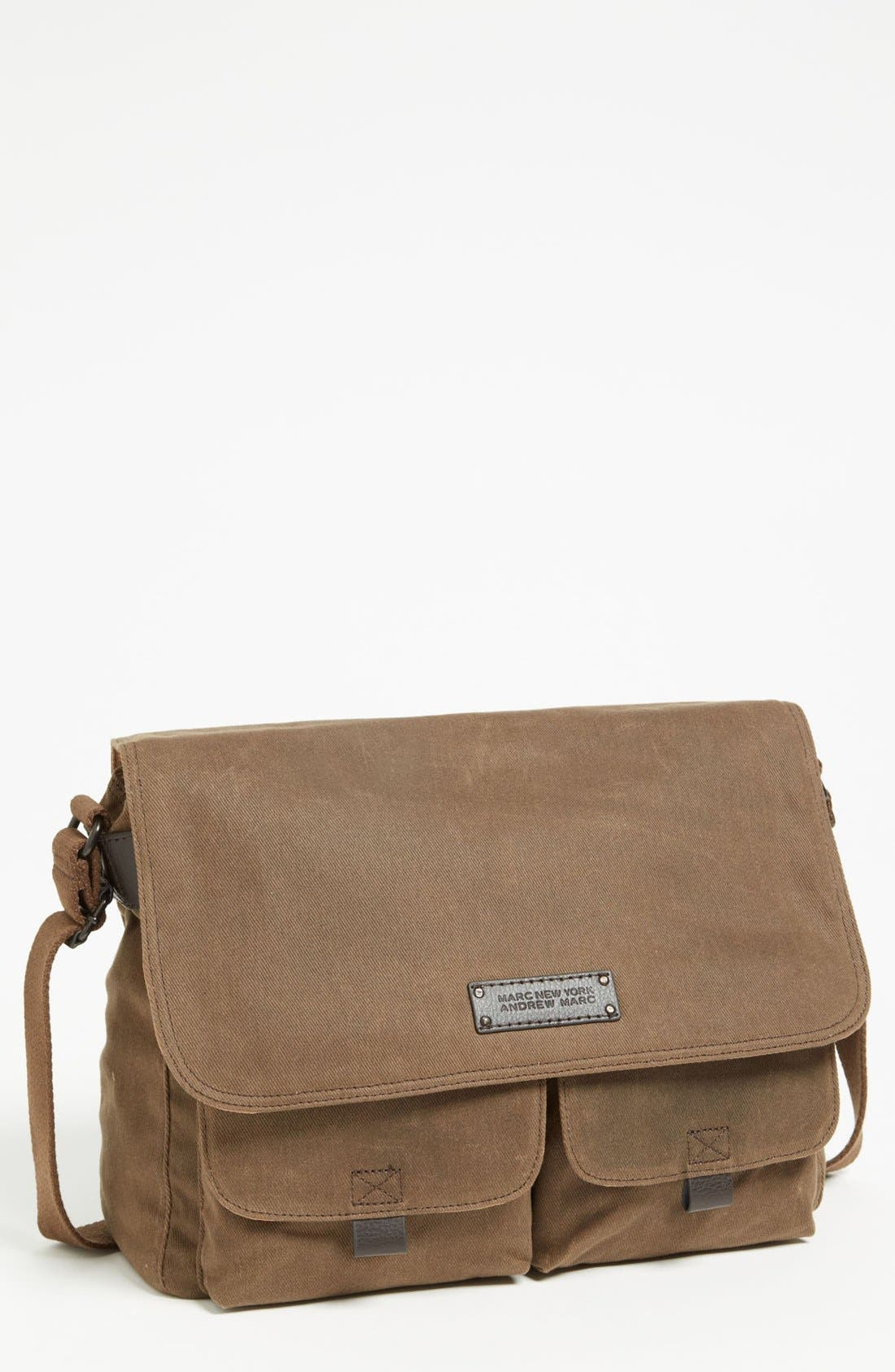 Alternate Image 1 Selected - Andrew Marc 'Essex' Twill Messenger Bag
