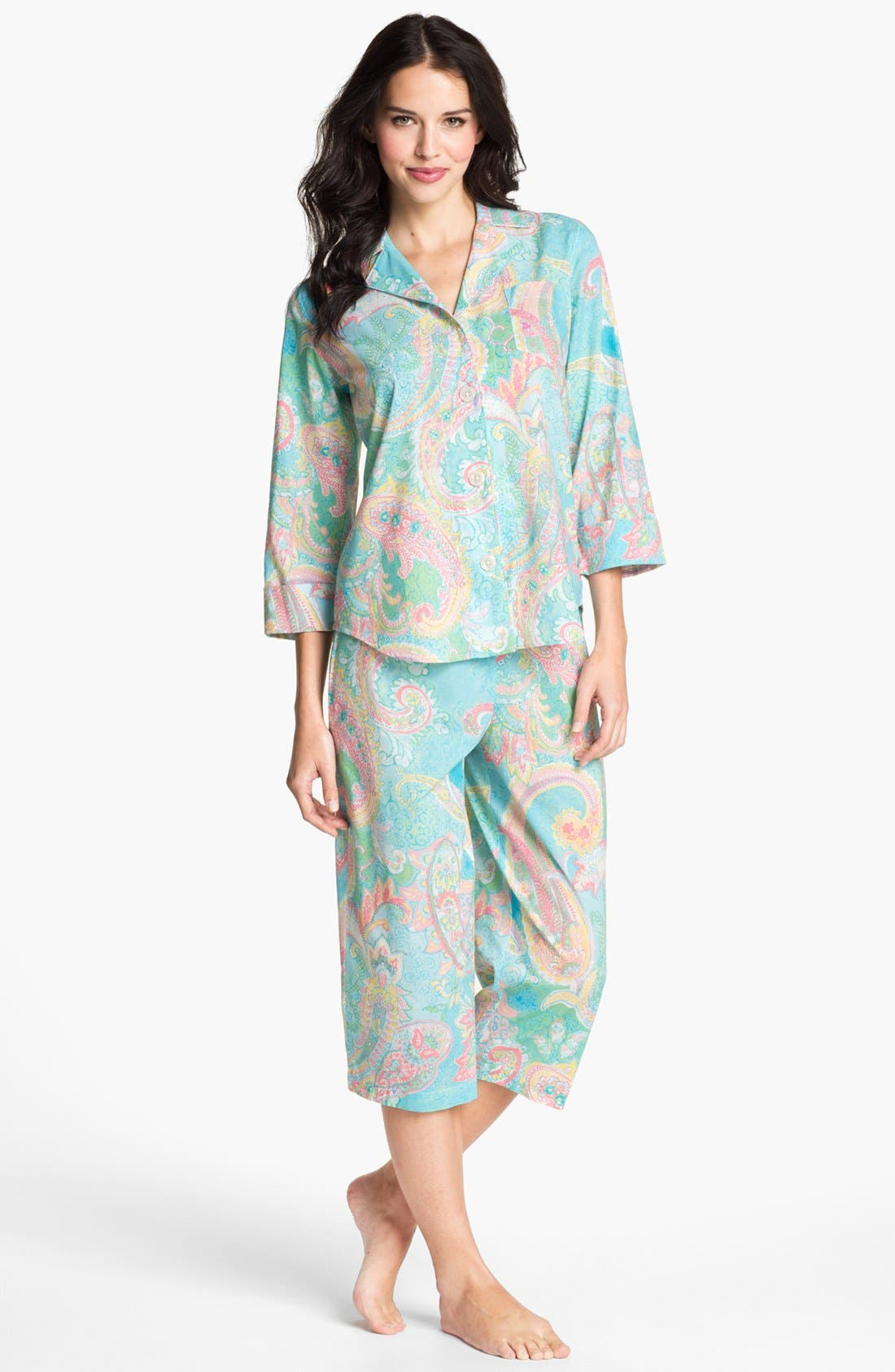 Alternate Image 1 Selected - Lauren Ralph Lauren Crop Pajamas