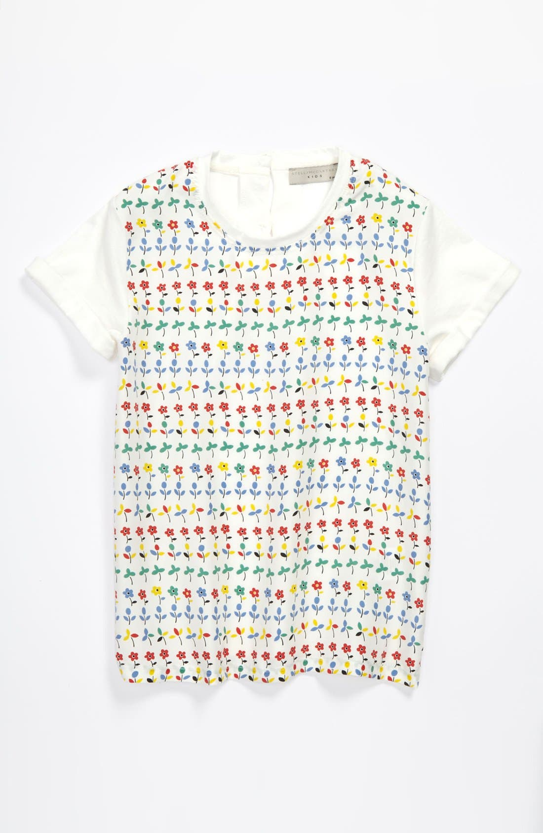 Main Image - Stella McCartney Kids Floral Print Tee (Toddler, Little Girls & Big Girls)