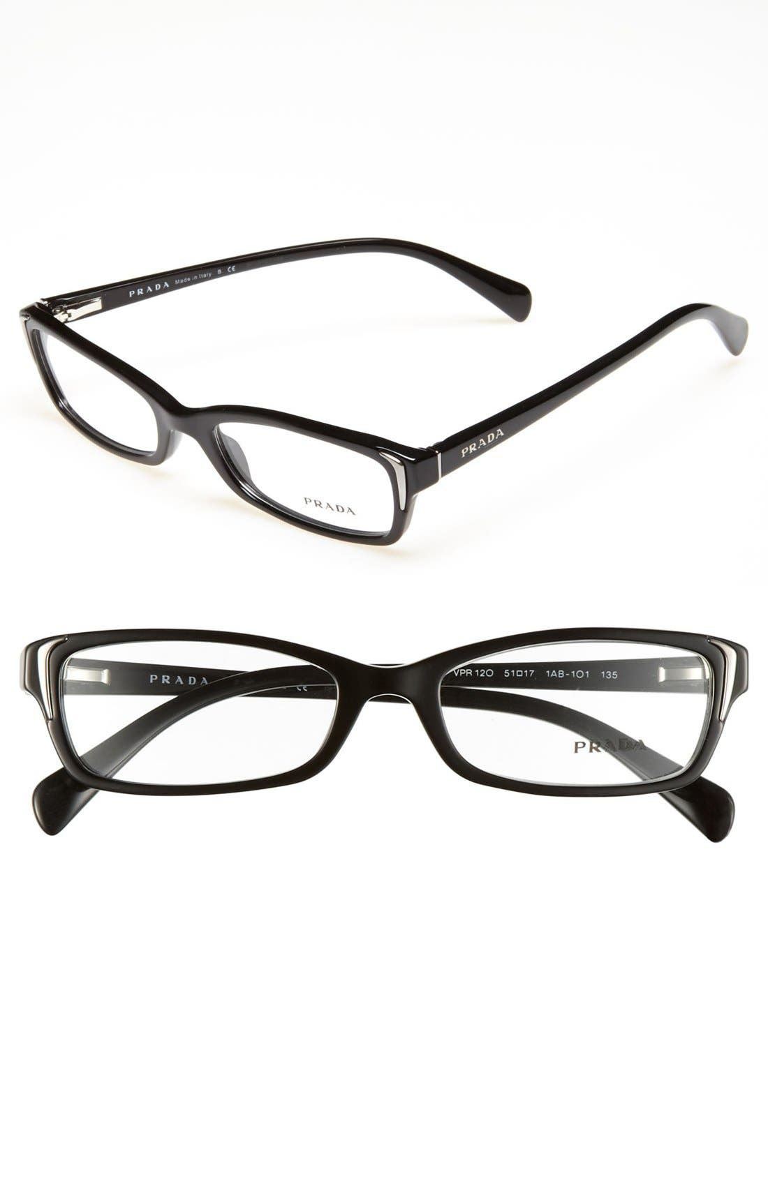 Alternate Image 1 Selected - Prada 51mm Optical Glasses (Online Only)