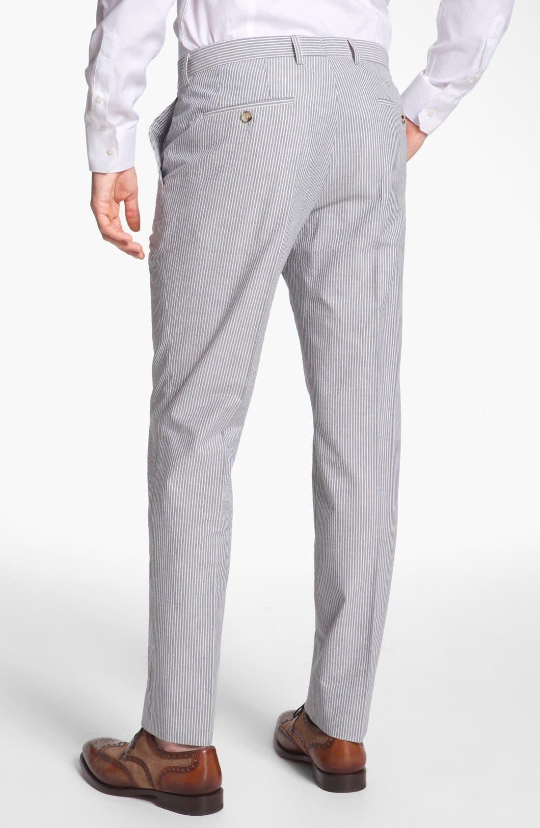 Alternate Image 5  - BOSS Black 'Hedge/Gense' Trim Fit Seersucker Suit