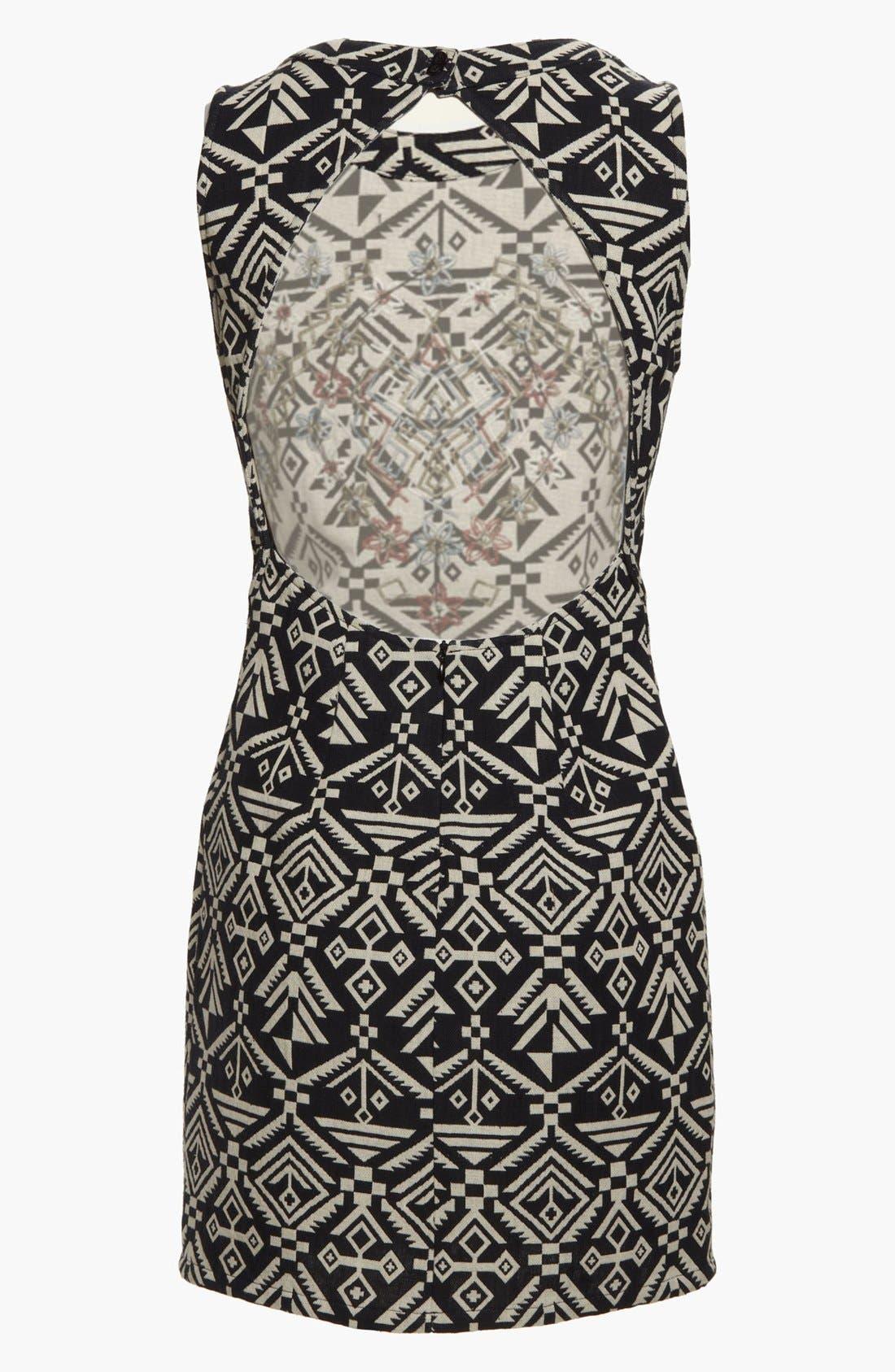 Alternate Image 2  - ASTR Tribal Print Body-Con Dress