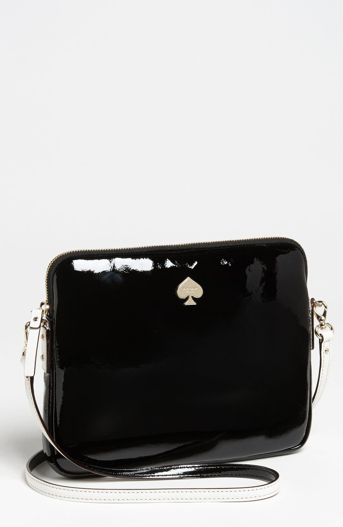 Alternate Image 1 Selected - kate spade new york 'bryce - flicker' patent leather iPad crossbody bag