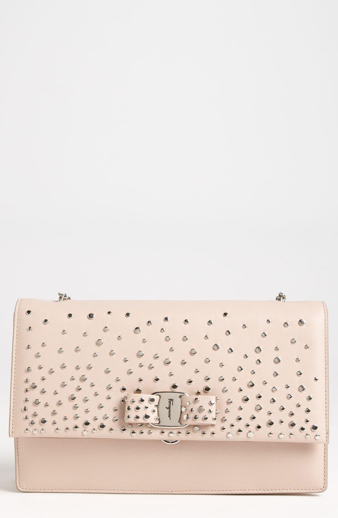 Alternate Image 1 Selected - Salvatore Ferragamo 'Louvre Ginny - Mini' Leather Shoulder Bag