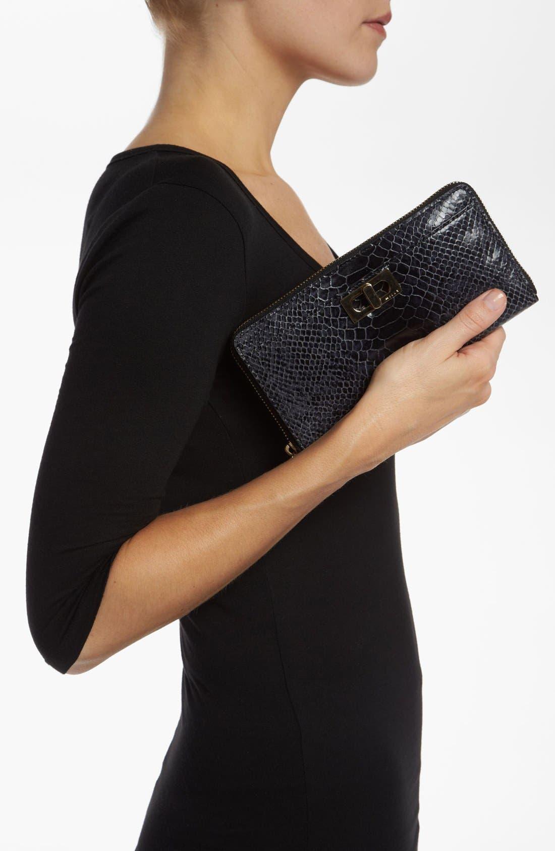Alternate Image 4  - Milly 'Claudia' Snake Embossed Wallet