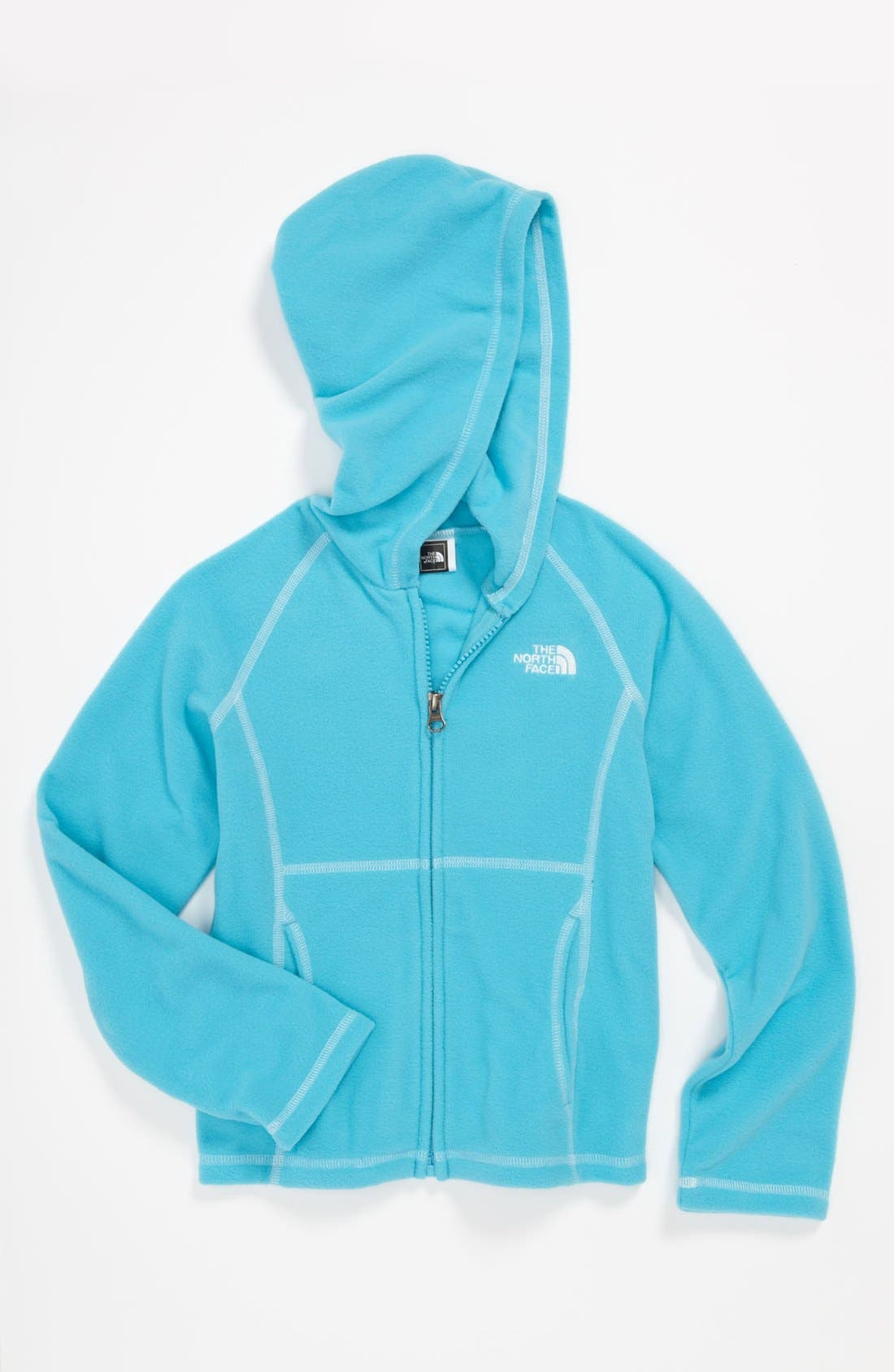 Main Image - The North Face 'Glacier' Hoodie (Little Girls & Big Girls)