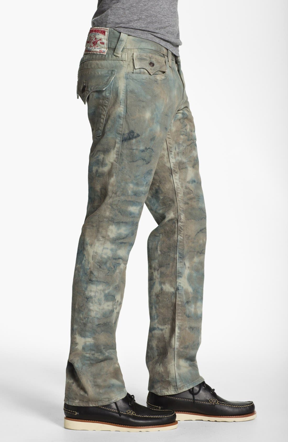 Alternate Image 3  - True Religion Brand Jeans 'Ricky' Straight Leg Jeans (Olive)
