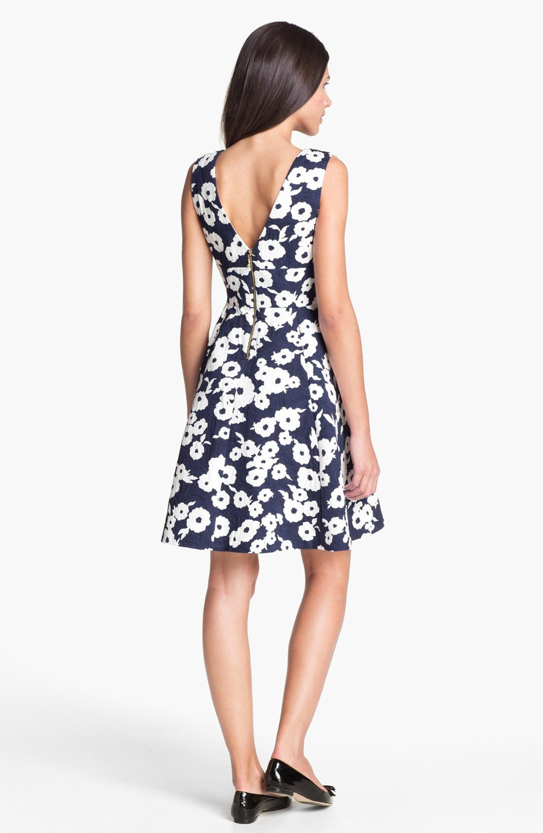 Alternate Image 2  - kate spade new york 'martin' cotton fit & flare dress