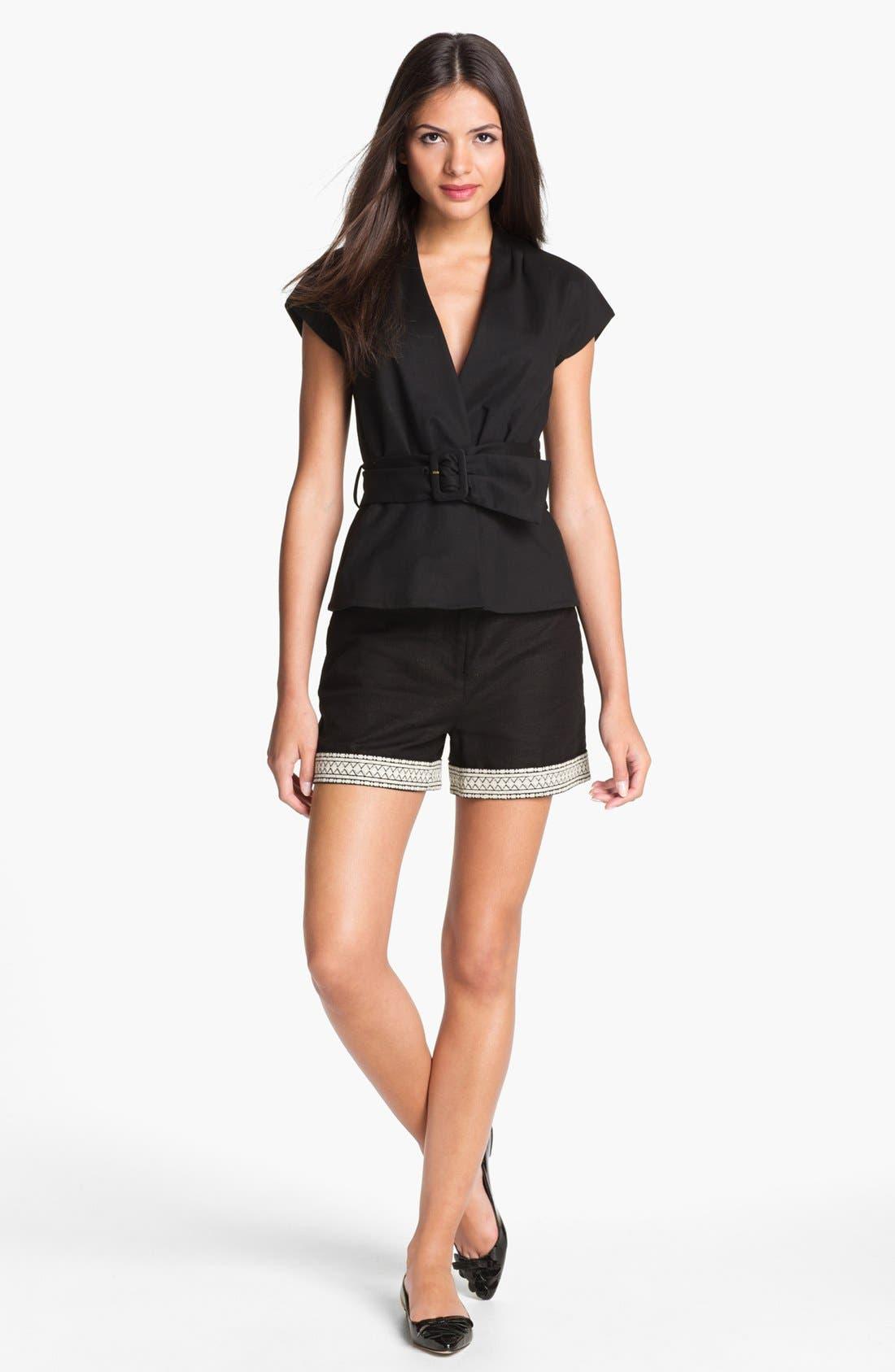 Alternate Image 4  - kate spade new york 'roslyn' embroidered shorts