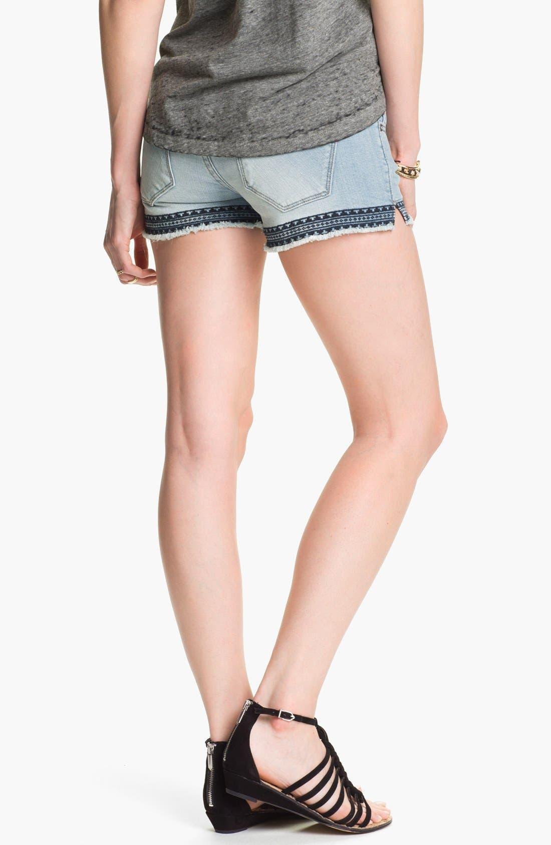 Alternate Image 2  - Vigoss Aztec Embroidered Cutoff Shorts (Juniors)