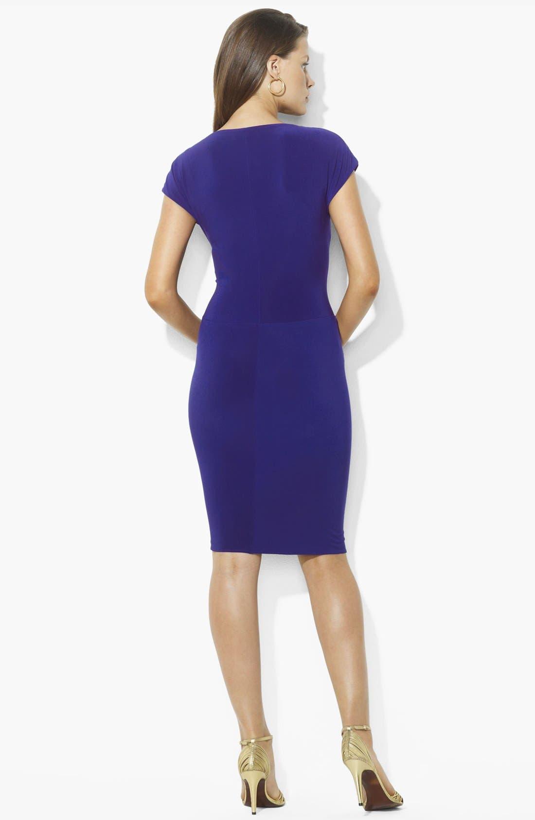 Alternate Image 2  - Lauren Ralph Lauren Knotted Jersey Sheath Dress