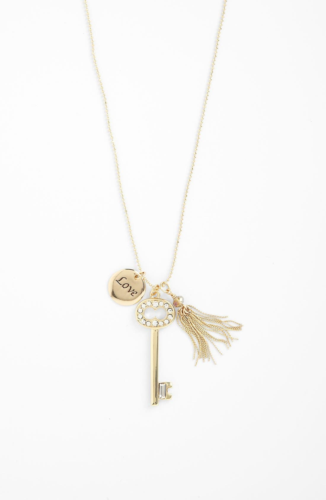 Alternate Image 1 Selected - Nordstrom 'Love Languages' Long Charm Necklace