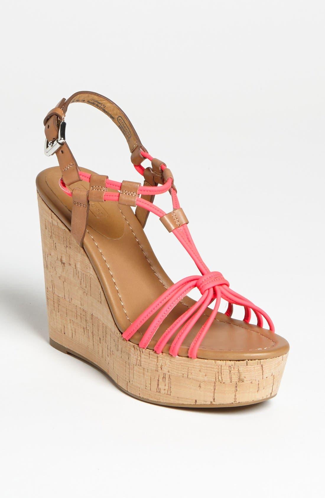 Alternate Image 1 Selected - COACH 'Georgianna' Sandal