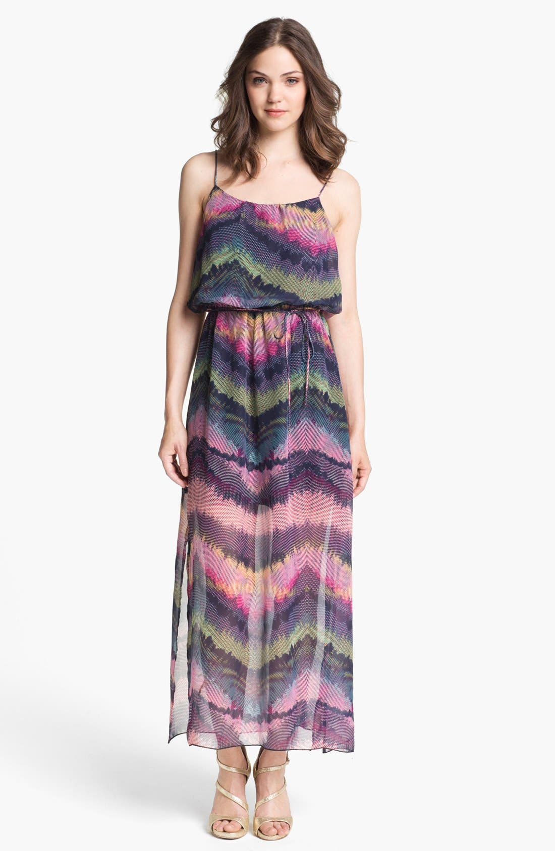 Alternate Image 1 Selected - Olive & Oak Print Maxi Dress