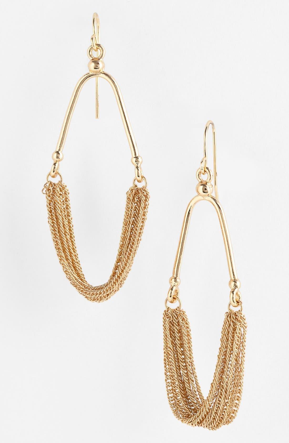 Main Image - Carbon Copy Chain Drop Earrings