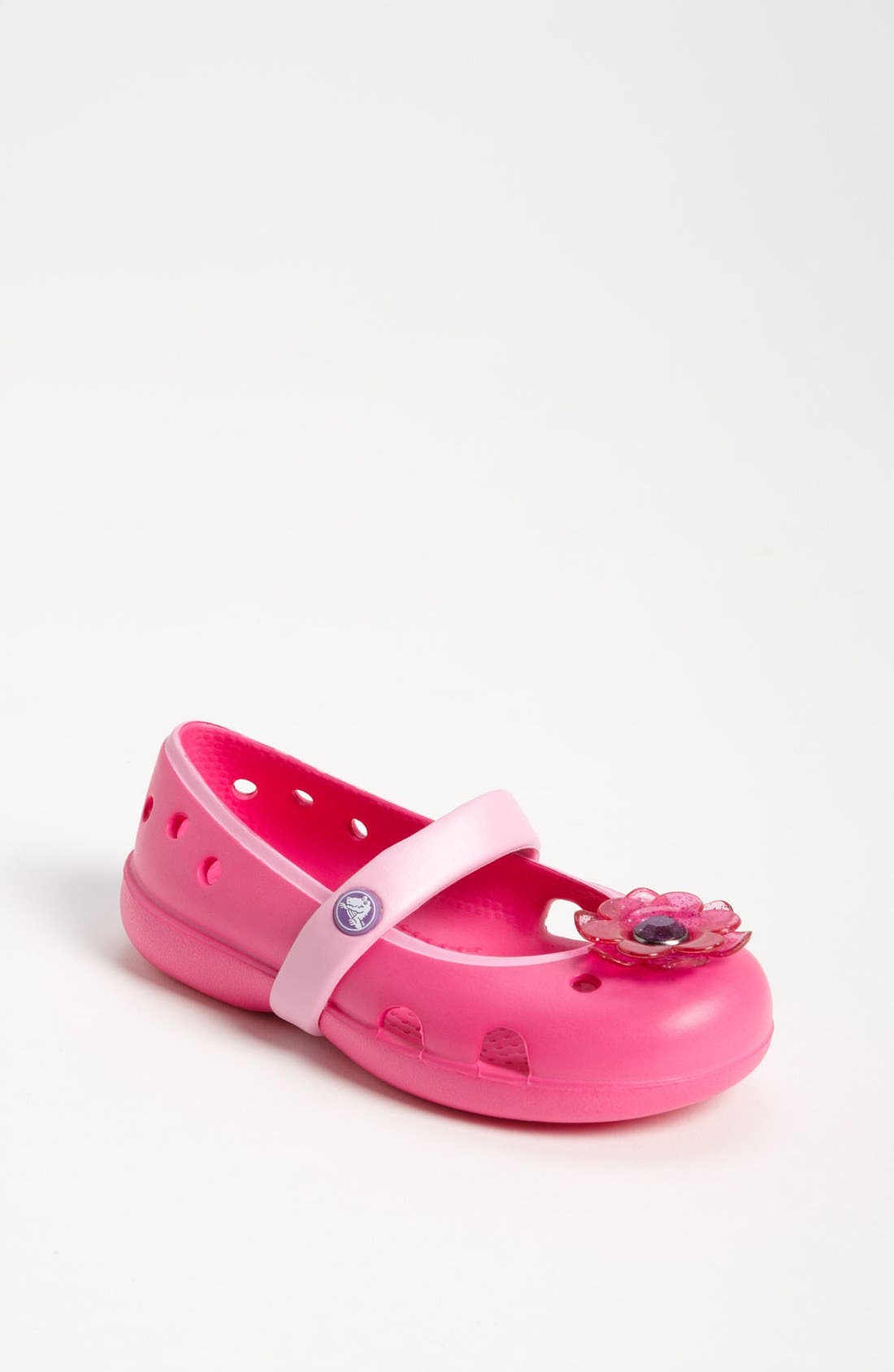 Main Image - CROCS™ 'Keeley Flower' Mary Jane (Baby, Walker, Toddler & Little Kid)