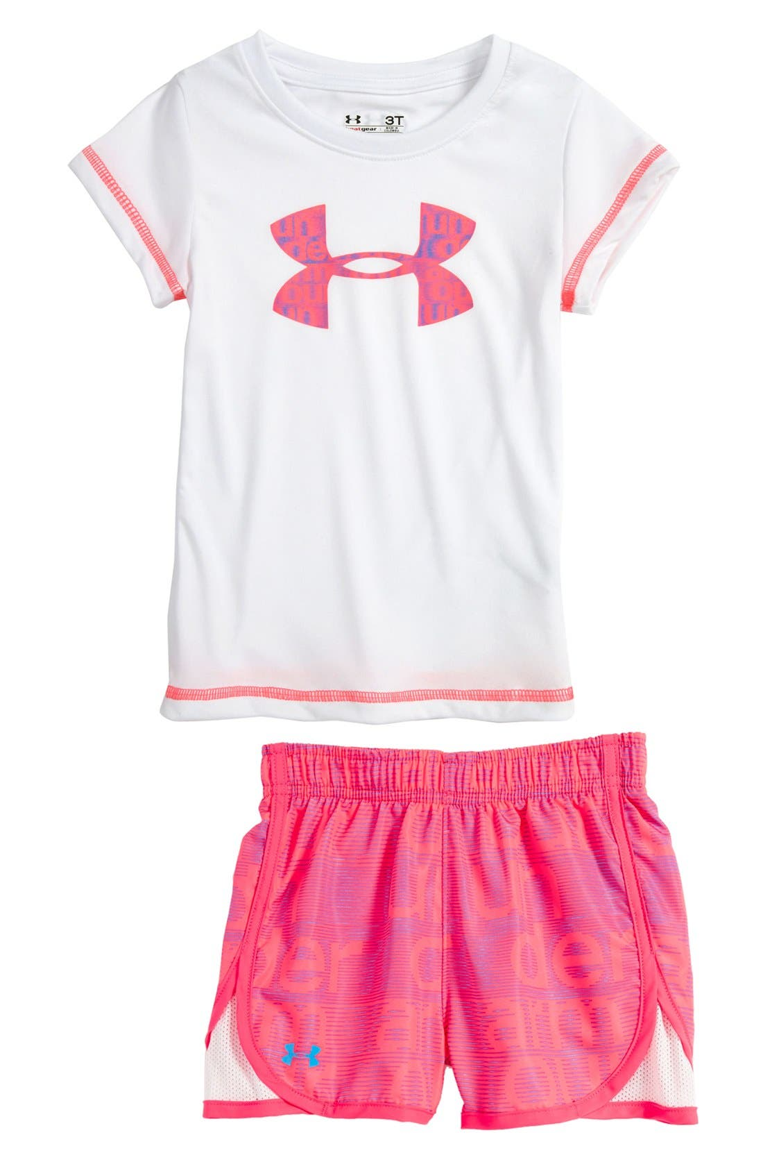 Alternate Image 1 Selected - Under Armour Tee & Shorts (Toddler)