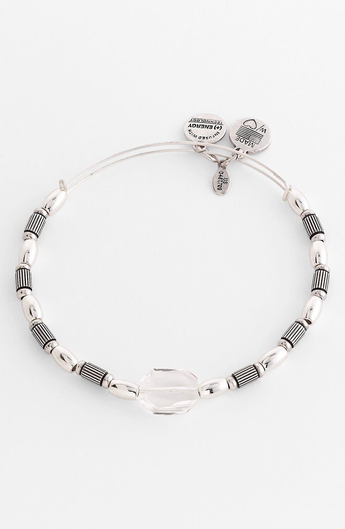 Main Image - Alex and Ani 'Around the Bend - Crest' Expandable Wire Bangle