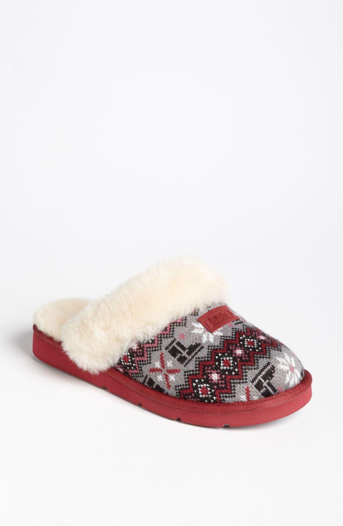 Alternate Image 1 Selected - UGG® Australia 'Cozy Nordic Knit' Slipper (Women)