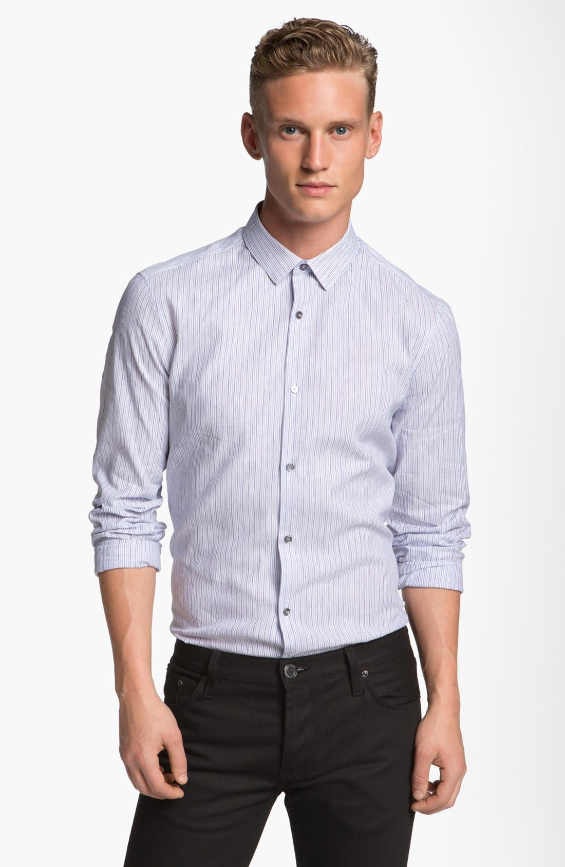 Alternate Image 1 Selected - Burberry London Pembury Stripe Sport Shirt