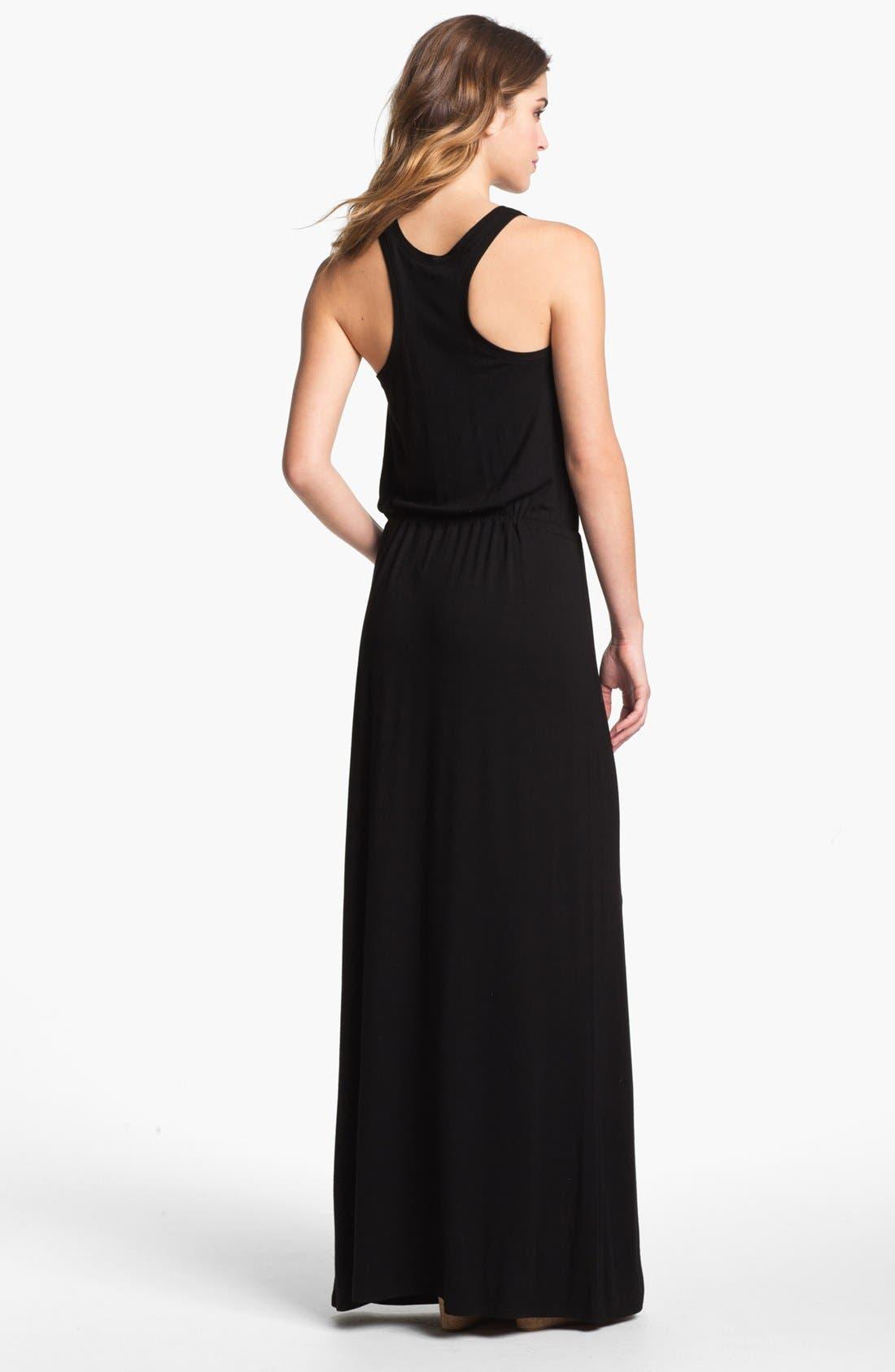Alternate Image 2  - Caslon® Racerback Jersey Maxi Dress