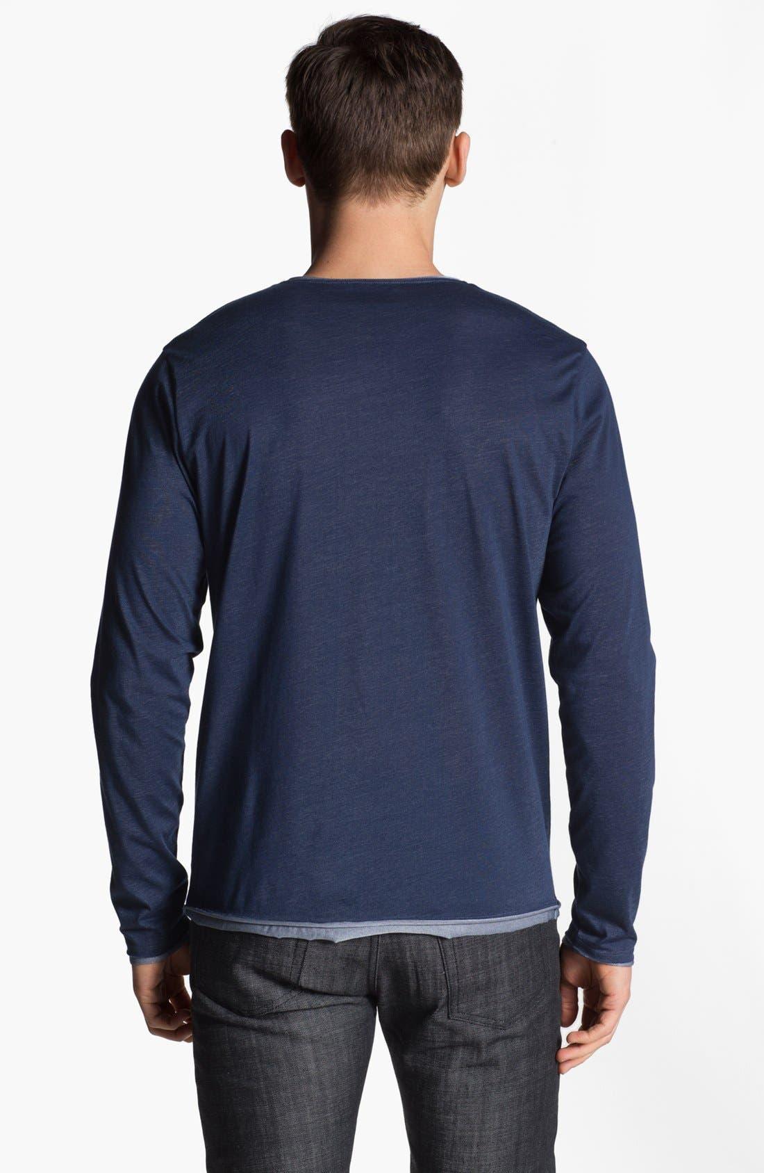 Alternate Image 2  - Versace V-Neck Henley T-Shirt