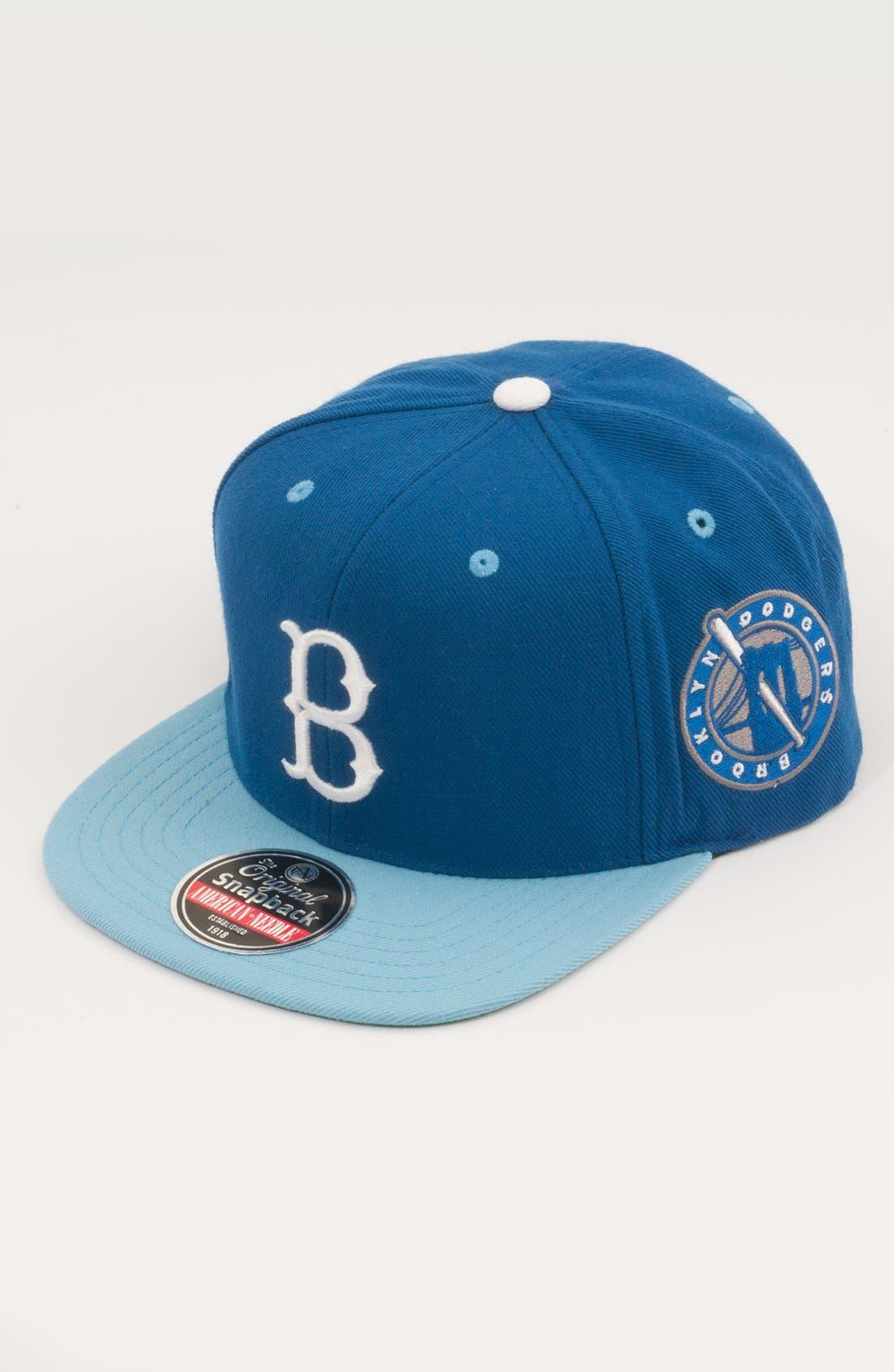 Alternate Image 1 Selected - American Needle 'Brooklyn Dodgers - Blockhead' Snapback Baseball Cap