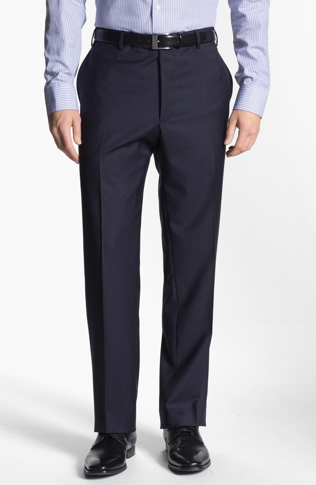 Alternate Image 4  - Armani Collezioni 'Giorgio' Chalk Stripe Wool Suit