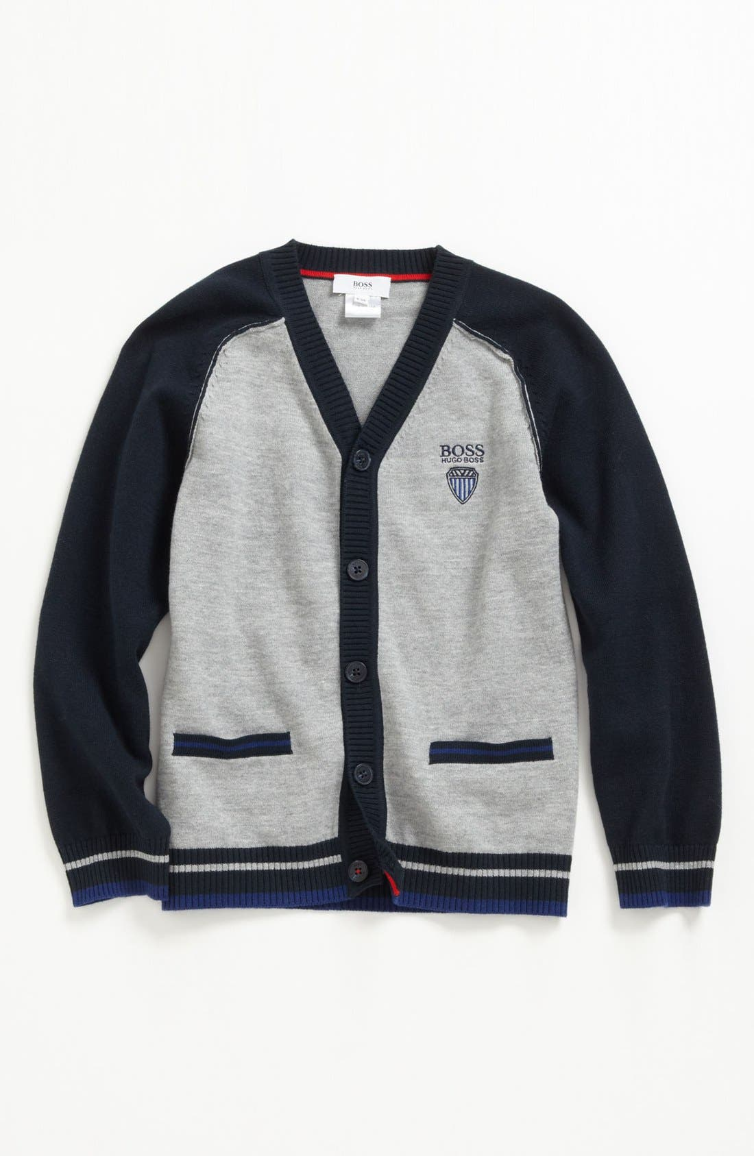 Alternate Image 1 Selected - BOSS Kidswear Cotton Cardigan (Little Boys & Big Boys)